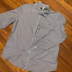 Ralph Lauren navy stripe button down shirt